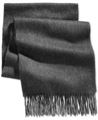 Club Room Solid Cashmere Scarf Only At Macy's Heathered Charcoal