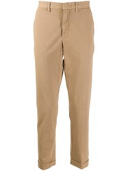 Z Zegna Cropped Trousers Neutrals