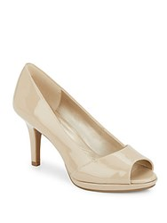 Bandolino Santeene Peep Toe Pumps Light Tan