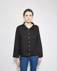Le Vestiaire De Jeanne Peter Pan Collar Shirt Black