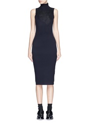 Rag And Bone 'Carolyn' Lace Overlay Turtleneck Rib Knit Dress