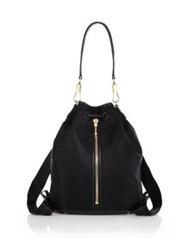 Elizabeth And James Cynnie Sling Nylon And Leather Convertible Backpack Black