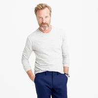 J.Crew Nautical Striped Long Sleeve T Shirt In Heathered Cotton