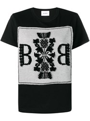 Barrie Logo Embroidered Top Black