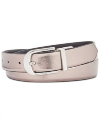 Inc International Concepts Reversible Belt Created For Macy's Pewter Black