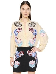 Stella Mccartney Embroidered Parachute Silk Shirt