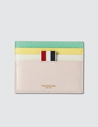 Thom Browne Double Sided Card Holder Multicolor