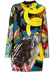 Olympia Le Tan Sequin Embellished Dress