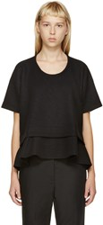 Studio Nicholson Black Wool Peplum Clark Top