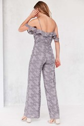 Oh My Love Lathyrus Cold Shoulder Jumpsuit Lavender
