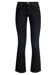 The Great Nerd High Rise Cropped Kick Flare Jeans Indigo