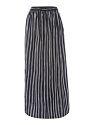 Maison Scotch Stripe Maxi Skirt Black Multi