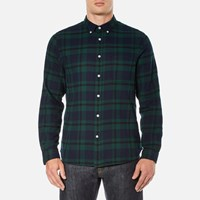 Edwin Men's Standard Shirt Black Watch Tartan