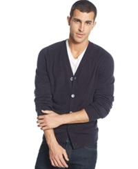 Weatherproof Soft Touch Cardigan Sweater Navy