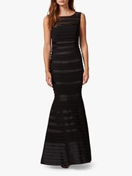 Phase Eight Shannon Layered Mermaid Hem Maxi Dress Black