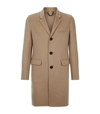 Burberry Prorsum Cashmere Wool Single Breasted Coat Male Beige