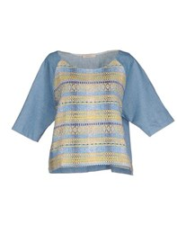 Sessun Shirts Blouses Women Sky Blue