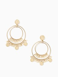 Kate Spade Flip A Coin Statement Earrings Gold