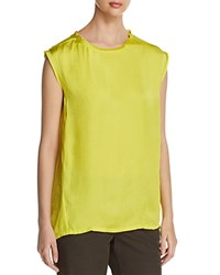 Kenneth Cole Sleeveless Circle Blouse Canary