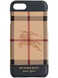 Burberry Haymarket Check And Leather Iphone 7 Case Black