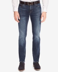 Hugo Boss Men's Regular Classic Fit Stretch Jeans Midblue