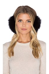 Adrienne Landau Fox Ear Muffs Black
