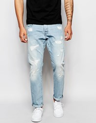 G Star G Star Jeans Stean Tapered Fit Wisk Light Aged Restored Wash Blue