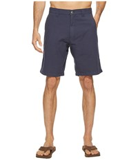 Mountain Khakis Boardwalk Plaid Short Midnight Blue Solid Men's Shorts