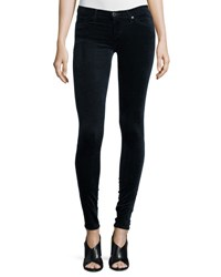 Ag Jeans The Legging Velvet Skinny Blue Night Navy