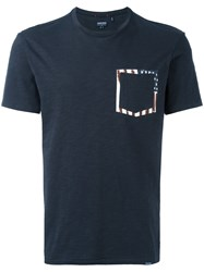 Woolrich Printed Pocket T Shirt Blue