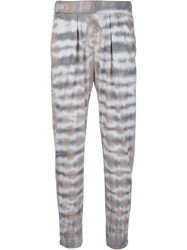 Raquel Allegra 'Easy' Tie Dye Trousers Nude And Neutrals