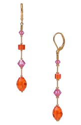 Women's Dabby Reid 'Willow' Linear Crystal Earrings Orange Pink