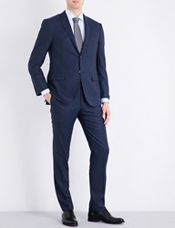 Corneliani Slim Fit Wool Suit Blue
