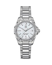 Tag Heuer Aquaracer 300M Quartz Stainless Steel And White Mother Of Pearl Watch 32Mm White Silver