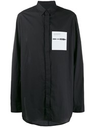 Julius Sound Frequency Patch Shirt Black
