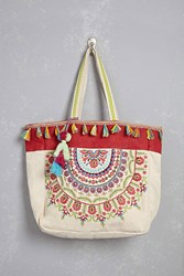 Forever 21 America And Beyond Fringe Tote Multi