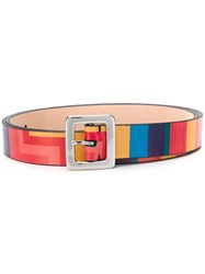 Paul Smith Ps Colour Block Belt Pink