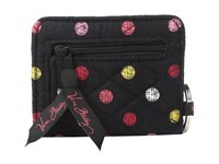 Vera Bradley Campus Double Id Havana Dots Credit Card Wallet Black