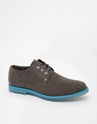 Firetrap Leather Derby Shoes Grey