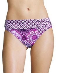 Tommy Bahama High Waist Fold Over Bikini Bottom Wild Orchird