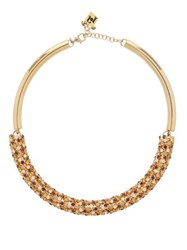 Rosantica By Michela Panero Caos Crystal Embellished Choker Gold