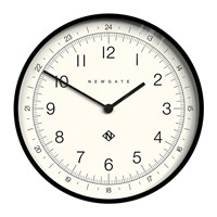 Newgate Number One Academy Wall Clock Black