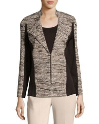 Ming Wang 26 L Knit Jacket Brown