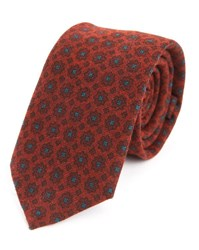 Scotch And Soda Red Pattern Silk Tie