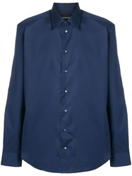 Emporio Armani Slim Fit Shirt Blue