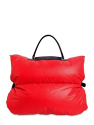 Valextra Reversible Small Nylon Down Bag Cover Red