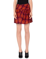 Gianfranco Ferre Gf Ferre' Skirts Mini Skirts Women Orange