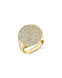 Sydney Evan Pave Diamond Signet Ring