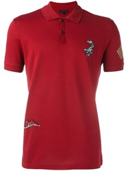 Lanvin Embroidered Fish Polo Shirt