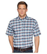 Cinch Athletic Plaid Short Sleeve White 1 Short Sleeve Button Up
